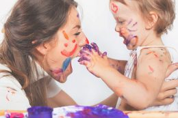 Mum and baby painting